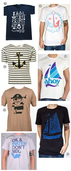 Nautical styled printed T-shirts