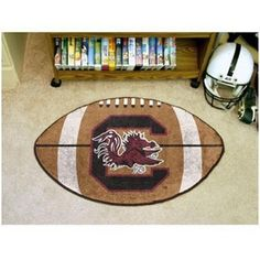 South Carolina Gamecocks Football Shaped Area Rug Floor Mat #Gamecocks #JockUniversity #GoCocks #SouthCarolinaGamecocks