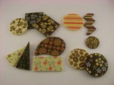 Vários modelos de decorativas de chocolate. Podem ser feitas sem estampa (lisa) ou com estampas ou personalizar.