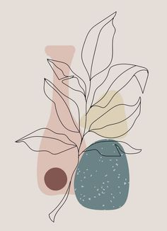 Wall Collage, Canvas Wall Art, Outline Art, Shape Art, Plant Art, Aesthetic Collage, Abstract Shapes, Minimalist Art, Pattern Wallpaper