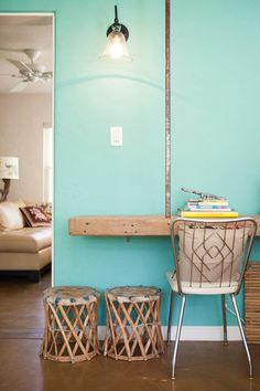 Wall color, Dunn Edwards Turle Lake green, great name for a paint color!