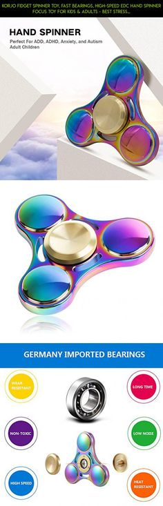 Korjo Fidget Spinner Toy, Fast Bearings, High-Speed EDC Hand Spinner Focus Toy for Kids & Adults - Best Stress Reducer Relieve ADHD, Anxiety, Autism and Toy for Killing Time (Rainbow) #fpv #shopping #products #parts #plans #screwdriver #spinner #camera #drone #gadgets #with #rainbow #kit #technology #tech #racing