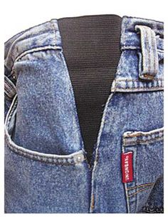 "Save your too-tight favorite pair of jeans or slacks with these inserts.    You also get the look of tailored pants but the comfort of elastic-waist pants. Step-by-step illustrated instructions show how to stitch into finished slacks or alter a favorite pattern to add inserts.   Includes two inserts PLUS 1 yd. of 6"" wide elastic to make six more pair."