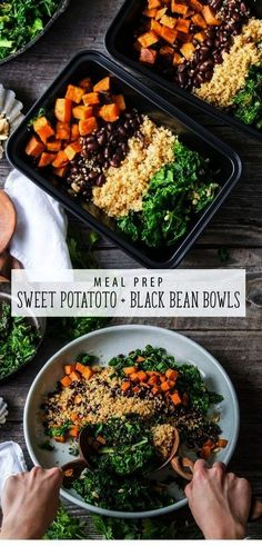 Vegan Sweet Potato and Black Bean Bowl is an easy meal prep recipe. This vegan recipe is great for lunch or dinner! Vegan Sweet Potato and Black Bean Bowl is an easy meal prep recipe. This vegan recipe is great for lunch or dinner! Healthy Eating Plate, Healthy Eating Tips, Clean Eating Recipes, Clean Eating Snacks, Eating Habits, Easy Meal Prep, Healthy Meal Prep, Healthy Cooking, Easy Meals