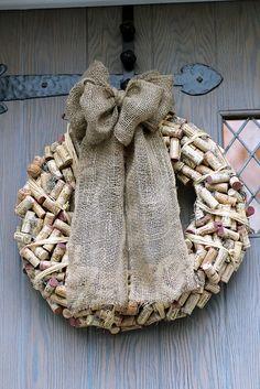 Oh dear god. Wine cork wreath. No.