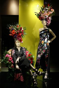 "7 Examples of Where Fashion, Florists & Mannequins Create ""WOW"" Fashion Window Display, Window Display Retail, Window Display Design, Visual Merchandising Displays, Visual Display, Retail Store Design, Retail Stores, Store Displays, Retail Displays"