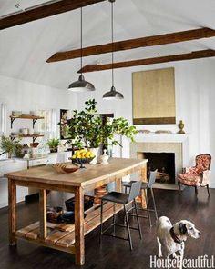 Best Modern Lake Houses Kitchen Dining Room