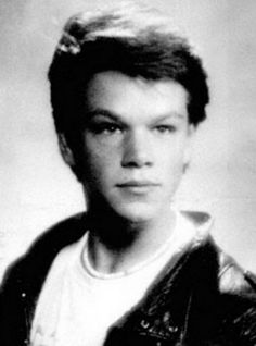 Young Matt Damon yearbook picture - he looks like a young Jack Nicholson here, I swear!