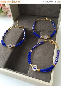 A personal favourite from my Etsy shop https://www.etsy.com/listing/514583831/big-sale-blue-evil-eye-bracelet-miyuki
