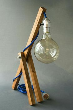 Loft Lighting, Wood Lamps, Wood Light, Cool Lighting, Wooden Lamp, Interior Lighting, Home Decor, Diy Lamp, Wood Desk Lamp