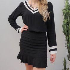 blusa-mangas-longas-preta-branca-navy-decote-v-linda-moda-comprar
