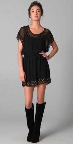 Diane von Frustenberg New Sol Dress-Simple Black Throw-on dress