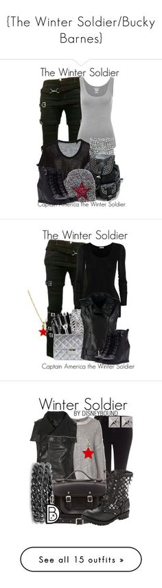 """""""{The Winter Soldier/Bucky Barnes}"""" by hannahluladybuggirl ❤ liked on Polyvore featuring Majestic, Yves Saint Laurent, Forever 21, women's clothing, women, female, woman, misses, juniors and Cath Kidston - visit to grab an unforgettable cool 3D Super Hero T-Shirt!"""