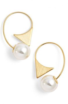 Jules Smith Triangle Drop Earrings available at #Nordstrom