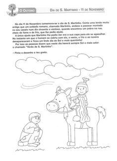 Historia Hl Martin, Toddler Crafts, School Days, Fall Crafts, Coloring Pages, Kindergarten, Mandala, Teaching, Activities