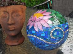 Beautiful Lily Pad Mosaic Garden Ball by CrackMeUp on Etsy, $139.00