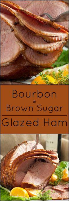 Gluten free Bourbon and Brown Sugar Glazed Ham.