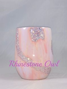 Opal Glitter Light Pink Geode Stainless Steel Tumbler – For Britt – epoxyet Diy Tumblers, Custom Tumblers, Glitter Tumblers, Acrylic Tumblers, Personalized Tumblers, Glitter Crafts, Resin Crafts, Glitter Projects, Burlap Projects