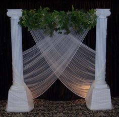 Wedding Backdrops, backgrounds, decorations, columns.