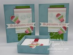 Christmas set - Ensemble de Noël  Jeu d'étampes SU Make a mitten SU Stamps set