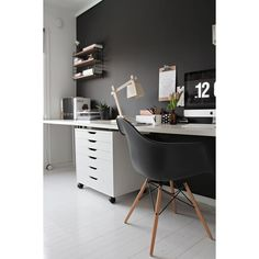37 Stylish, Super Minimalist Home Office Designs ❤ liked on Polyvore featuring backgrounds