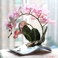 silk Flower arrangement artificial Butterfly Moth Orchid include vase FV25 | Crafts, Home Arts & Crafts, Floral Crafts | eBay!