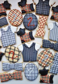 Plaid cookie collection from the lovely Ali Bee's bake shop.