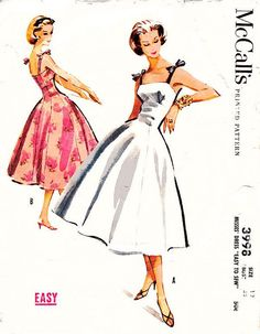 Vintage 1950s Dress Sewing Pattern  McCall's by ThePatternSource