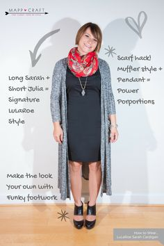 LuLaRoe Key Piece #3 Sarah Cardigan   Sarah over Julia + Funky Footwear
