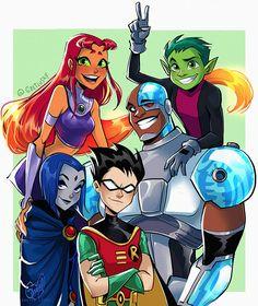 Teen Titans by GretluskyYou can find Teen titans and more on our website.Teen Titans by Gretlusky Teen Titans Raven, Teen Titans Fanart, Teen Titans Starfire, Teen Titans Cyborg, Jinx Teen Titans, Teen Titans Cosplay, Teen Titans Go Robin, Cartoon Shows, Cartoon Art