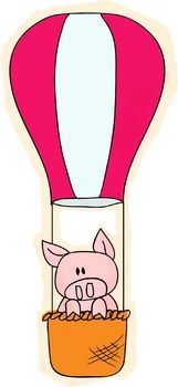Flyin' bacon, oinkers on the go--no matter what you call them, these adorable pigs using various methods to fly make an adorable accent to anything. Each pig is designed to look distinctly hand drawn.Keywords:PigPiggyFlyTransportationCuteOinkFreePrimaryClip artClipartClip-art