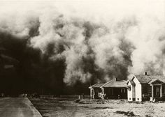 The Dust Bowl of the 1930's.  My dad told me that one day he was out plowing in NW Missouri.  He looked to the east and it was daylight.  He turned back to the west and it looked like night due to the dust.