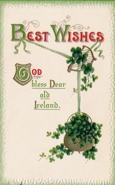 Patrick's Day Postcard, Visual Studies Collection, Library of Virginia. Vintage Greeting Cards, Stems, St Patrick, Postcards, Virginia, Scrapbooking, Holiday, Collection, Vintage Cards