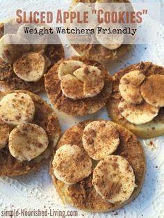 Healthy Sugar Free Sliced Apple Cookies | Simple Nourished Living