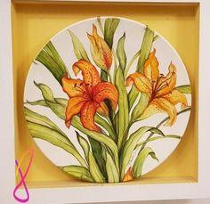 8 de Renatasparapan Pottery Plates, China Painting, Painting Lessons, Arabesque, Watercolor, Ceramics, Decoupage, Drawings, Crafts
