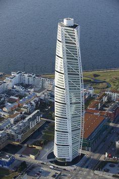 Turning Torso by Santiago Calatrava in Malmö