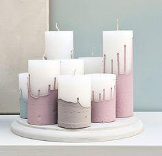 kaarsen in verf dompelen - Google zoeken