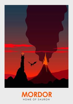 Lord of the Rings: Middle Earth Travel Posters: Mordor - Ciaran Monaghan
