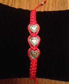 sweet and loving macrame bracelet