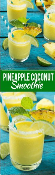 cool Pineapple Coconut Smoothie