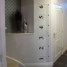 tape measure growth chart wall sticker by nutmeg | notonthehighstreet.com