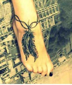 Nice little feather tattoo Classy