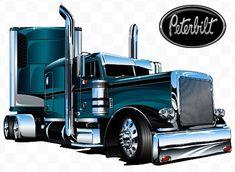 Custom Peterbilt, Peterbilt 379, Peterbilt Trucks, Big Rig Trucks, Cool Trucks, Pickup Trucks, Semi Truck Parts, Semi Trucks, Gp Moto