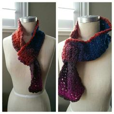 New Handmade One of a Kind Crochet Scarf New Handmade One of a Kind Crochet Scarf lovingly made by me. In an Ombre rainbow of vibrant jewel colors made of acrylic yarn has a little bit of stretch. Lots of looks as seen in the pics, rose or no rose as it is reversible. Accessories Scarves & Wraps