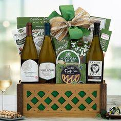 Wine Gift Baskets - Chardonnay Gourmet Gift Basket
