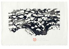 'Snow Tree' (1985) by Japanese-born, Canadian-based artist & printmaker Naoko Matsubara. Woodcut, 62.7 x 87.3 cm. via the artist's site