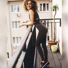 4d48c34e699 New Women Yoga Ladies V neck Clubwear Playsuit Bodycon Party Jumpsuit  Trousers Romper sport suit for female