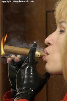 Free erotic leather gloves smoking