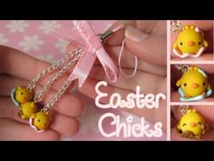 Easter Chicks In Egg Shells Tutorial: Speckled Eggs & Chocolate. Polymer Clay Charm
