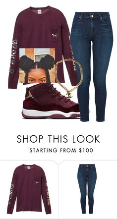 """""""Black girl swag"""" by foreversamiah on Polyvore featuring Victoria's Secret, J Brand and Chanel"""